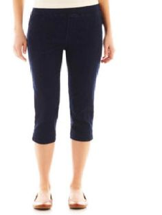 Details about Gloria Vanderbilt Amanda Womens Denim Capri Stretch ...