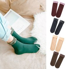1a2408960ff Women Winter Warm Velvet Thickening Socks Solid Casual Snow Thermal Keeping  Sock  fashion  clothing