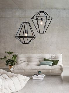 Leconic  Contra 1 Light Pendant in Black