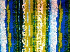 Mad Mod Retro Psychedelic 60s Vintage Barkcloth// by KimberlyZ, $59.00