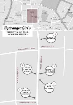 Hydrangea Girl - Dublin charity shop tour! Camden Street, Dublin city centre.