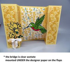 """Acetate """"window"""" sheets available from Stampin'Up! Bridge Card, Blog Images, Paper Design, Stampin Up, Curtains, Projects, Cards, Window, Log Projects"""