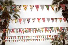 mismatched flags // event design by Sitting in a Tree Events, photo by Annie McElwain