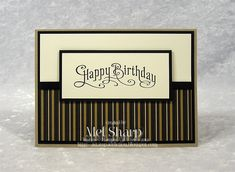 """Stamps: Perfectly Penned Paper: Crumb Cake, Basic Black, Very Vanilla, Mocha Morning DSP Ink: Basic Black Accessories: 1/4"""" Basic Black Grosgrain Ribbon"""