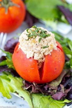 Mayo-Free Chicken Salad with Tahini, Walnuts and Caramelized Onions (gluten-free, dairy-free, grain-free, paleo