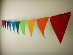 Bunting Flags- Rainbow of Colors jj
