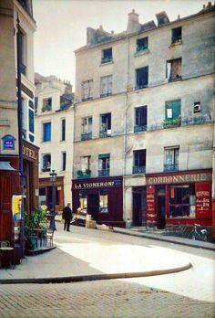 Photos extrêmement rares de Paris en couleurs au début des années 1900 | LE JOURNAL DU SIECLE -angle des rues Linné et Boulanger -1914 -Stéphane Passet