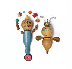 Juggling Clown Queen Bee ornament Elizabeth Rosen