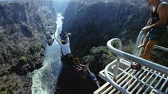 WHERE are the scariest locations people have bungee jumped?