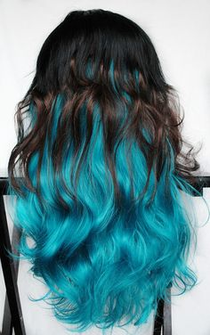 SALE - FELINE BLUE wig // Black Brown Turquoise Teal Hair // Kitty Cat Wavy Sexy. $100.00, via Etsy.