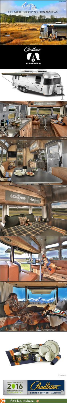 Airstream and Pendleton team up for a limited edition travel trailer. Details at if it's hip, it's here.