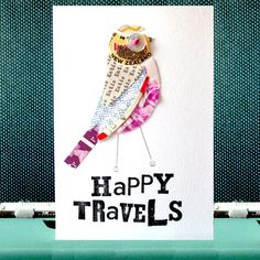 A Personalised Happy Travels Card