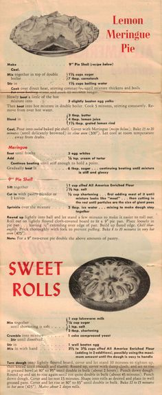 Series No. 1 - Betty Crocker Recipe Sheet - Click To View Larger