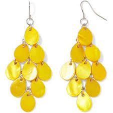 Image result for yellow earrings