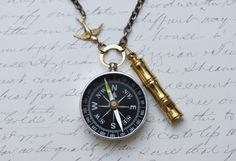 I would buy this in a heartbeat. Working Compass Necklace  Lost at Sea Captains by madebymoe, $27.00