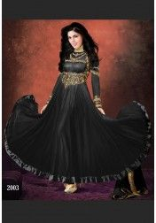 DESIGNER HEAVY BLACK EMBROIDERY SALWAR SUIT
