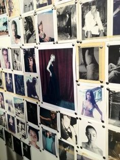 polaroid wall in bar - Google Search