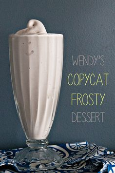One of the most popular copycat recipes on my blog... Wendy's Copycat Frosty Dessert! Tastes just like the original!