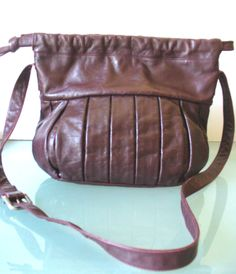 Made in Italy Vintage Enny Oxblood Shoulder  Bag by EurotrashItaly on Etsy