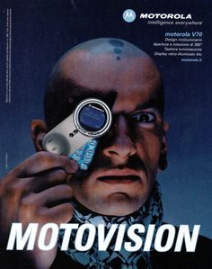 Ad for the Motorola V70 cellphone (2002)