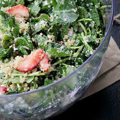 Kale, Quinoa, and Strawberry Salad La Bella Vita Cucina