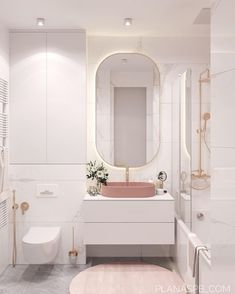 Small Bathroom 606156431083970744 - Moscow project Plan A on Behance Source by salledebaine Bathroom Design Luxury, Bathroom Design Small, Bathroom Layout, Modern Bathroom, Home Interior Design, Master Bathroom, Master Baths, Pink Bathroom Interior, Small Bathroom Ideas