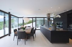 References and case studies > Inspiration > Mosa tiles Open Plan Kitchen Living Room, Kitchen Dining Living, Kitchen Room Design, Interior Design Kitchen, Contemporary Kitchen Design, Modern House Design, Minimalist Kitchen, Cuisines Design, Home Kitchens