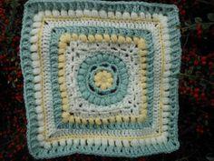 """Dalliance 12"""" Afghan Block ~ free pattern Crochet Squares, Crochet Granny, Crochet Motif, Granny Squares, Knit Crochet, Crochet Afghans, Thing 1, Square Patterns, Pattern Blocks"""