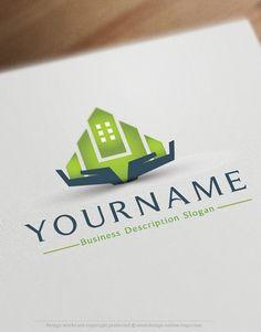 Realty Estate Hands Logo design templates