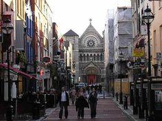 Grafton Street in Dublin, Ireland, where you can shop till you drop!