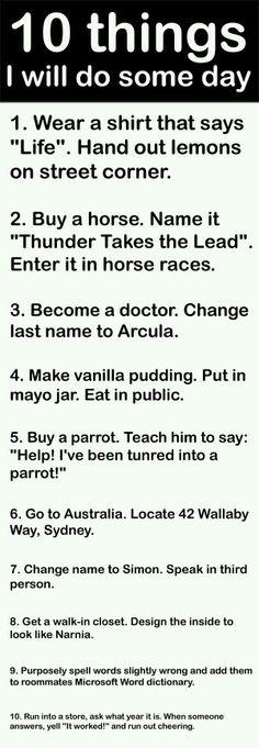 Will do it