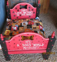 Handmade Wood Elegant Pet Beds