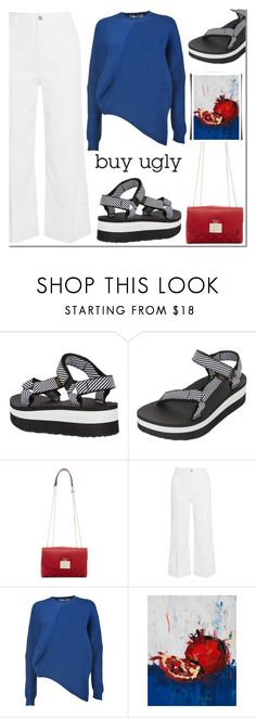 """Ugly (But Chic?!) Shoes"" by alinutzapop ❤ liked on Polyvore featuring Teva, GUESS, STELLA McCARTNEY and uglyshoes"