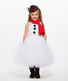 Look what I found on #zulily! Heart to Heart White Snowman Dress - Infant, Toddler & Girls by  #zulilyfinds