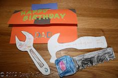 diy dad birthday card.. would be cute for the little one to do for daddy  :)