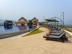 Luang Prabang View Hotel Pool Loungers and Pool