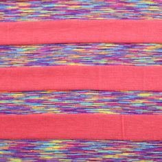 got swatch in mail and love..Coral Vintage Rainbow Stripes Modal Cotton Jersey Knit Fabric