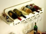 How to Build a Wine Rack for Bottles and Glasses   -  Add storage for wine and stemware where you may not think you have space. This project can be mounted on the wall in just a little more than two feet of space.