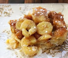 Overnight Bananas Foster French Toast Casserole - i heart eating