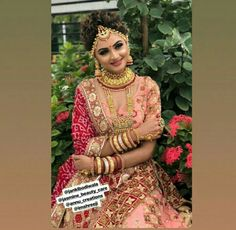 Bridal Looks, Bridal Make Up, Bridal Style, Lehenga Choli, Sari, Bridal Lehenga Collection, Bridal Fashion, Indian Bridal, Bridal Dresses