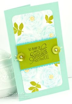 Limited Supply Challenge - So Many Smiles Card by Nichole Heady for Papertrey Ink (July 2012)
