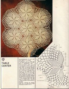 crochet, napkin tablecloth