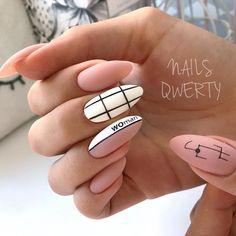 Nail art Christmas - the festive spirit on the nails. Over 70 creative ideas and tutorials - My Nails Matte Nails, Acrylic Nails, Nagellack Design, Minimalist Nails, Dream Nails, Perfect Nails, Acrylic Nail Designs, Trendy Nails, Short Nails