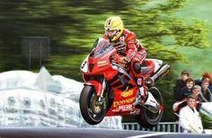 Joey Dunlop F1 TT 2000 at Ballaugh Bridge. 26 wins at the TT.