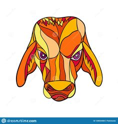 Illustration about Mosaic low polygon style illustration of a brahma bulll head viewed from front on isolated white background done in color. Illustration of polygon, artwork, triangulation - 128554408 Art Prints, Colorful Art, Polygon, Illustration, Vector Illustration, Mosaic, Art, Colorful Prints, Color