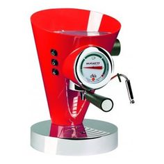 Diva Coffee/Espresso Maker, Red - Andreas Seegatz - Bugatti - RoyalDesign.com