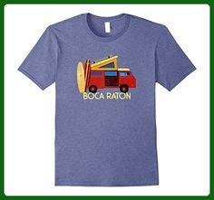 Mens Boca Raton Retro Van Surf T Shirt: Men, Women, Kids 2XL Heather Blue - Retro shirts (*Amazon Partner-Link)