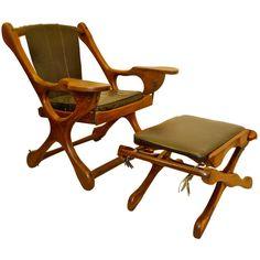 Don Shoemaker for Senal Sling Swinger Chair With Ottoman 1960