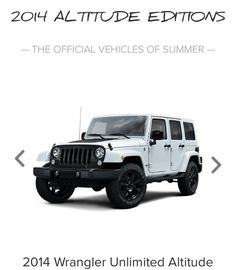 New Jeep Altitude Unlimited, our next Vehicle. Sweet!