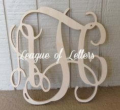 12 inch Wooden Monogram Letters by LeagueofLetters on Etsy, $11.75